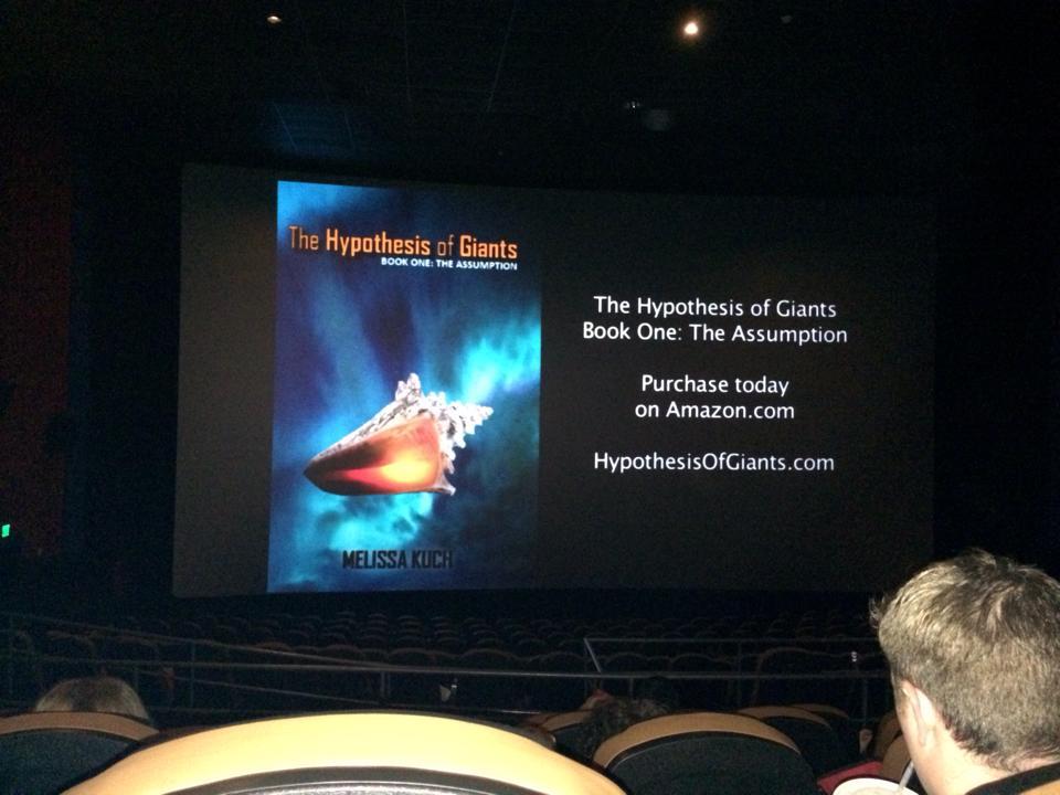 Book Trailer in Movie Theater